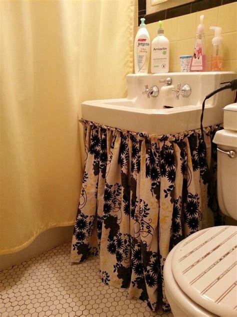 bathroom sink skirt ideas  pinterest utility