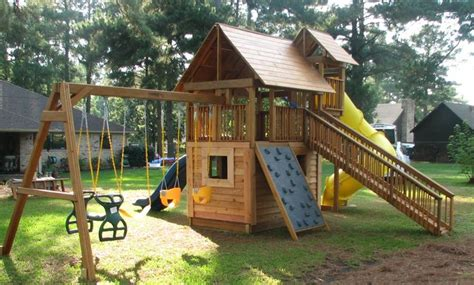 wood playground equipment residential kid stuff