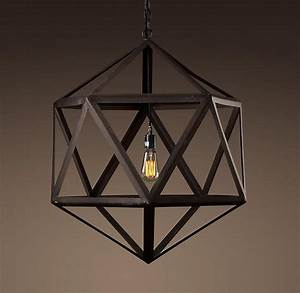 Steel polyhedron medium pendant outdoor lighting