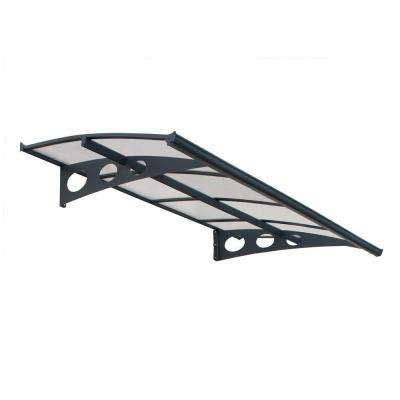 palram herald  awning  greyclear grey frame clear twin wall panel polycarbonate roof