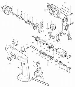 Spares For Makita 8411d Cordless Percussion Drill 12v