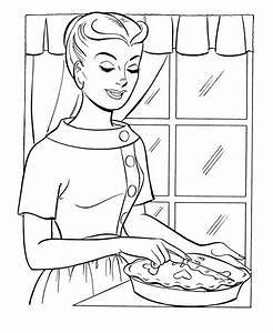 Thanksgiving Dinner Coloring Page Sheets - Mom's ...