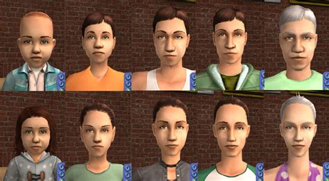 The Sims 2 Face Replacement Templates by Mod The Sims Complete Cas Face Template Replacements