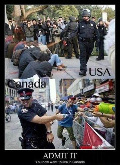 difference  american  canadian police officers