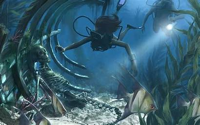 Fantasy Ocean Desktop Backgrounds Wallpapers Background Computer