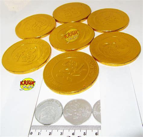 jual coklat koin emas ukuran besarr satuan  lapak kriuk