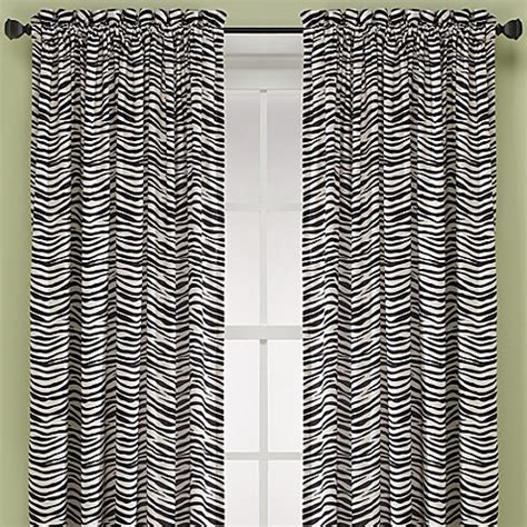 buy zebra   window curtain panel  blackivory