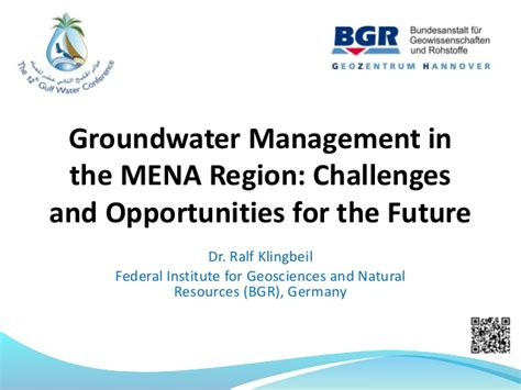 R. Klingbeil, 2017. Groundwater Management In The Mena