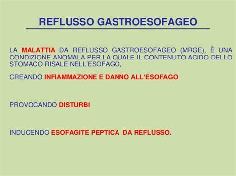 alimentazione per esofagite da reflusso il reflusso gastroesofageo