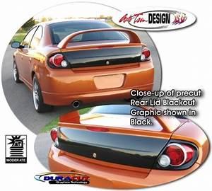 Rear Lid Blackout Graphic 1 for Dodge Neon SRT 4