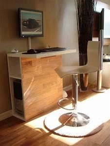 Meuble Ordinateur Salon : le meuble informatique 80 id es magnifiques en photos chambre noire ~ Medecine-chirurgie-esthetiques.com Avis de Voitures