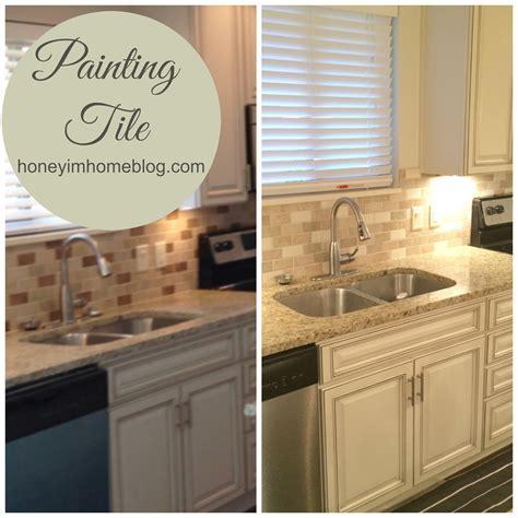 painted tiles for kitchen backsplash honey i 39 m home painting tile 39 s tv debut