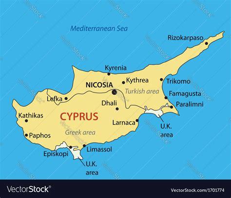 republic  cyprus map royalty  vector image