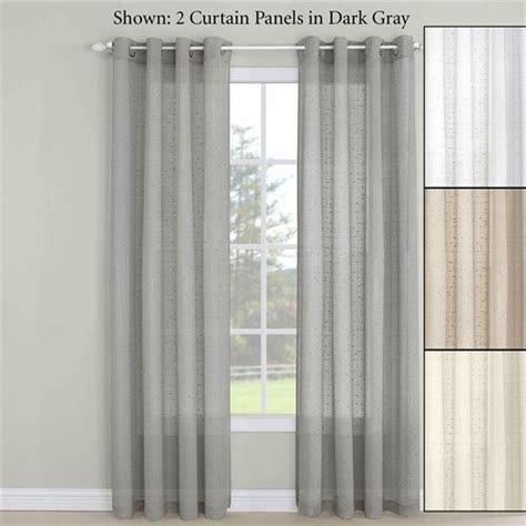 erin semi sheer grommet curtain panel