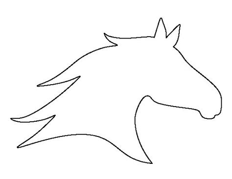 horse head pattern   printable outline  crafts
