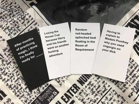 If you're looking for cards against harry potter but don't know which one is the best, we recommend the first out of we provide an cards against harry potter buying guide, and the information is totally objective and authentic. Harry Potter Fans Release Wickedly Hilarious 'Cards Against Muggles' - DesignTAXI.com