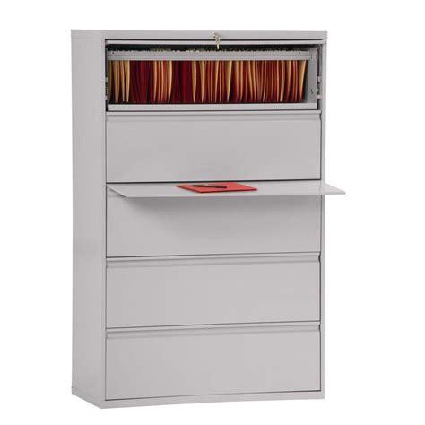 Sandusky File Cabinet by Sandusky 800 Series Dove Gray File Cabinet Lf8f425 05