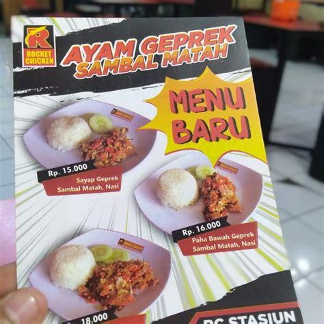 Anda sedang mencari daftar menu rocket chicken? Resep Sambal Ayam Geprek Rocket Chicken - Rocket Chicken Sungai Jawi Luar Makanan Delivery Menu ...