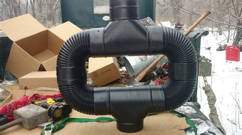 stove pipe heat reclaimer youtube