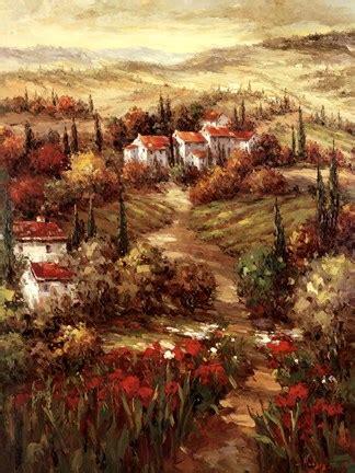 tuscan village fine art print  peter hulsey