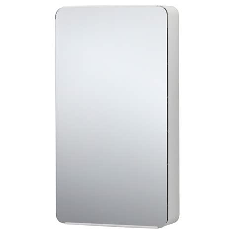 brickan mirror with storage unit white 20x100 cm ikea