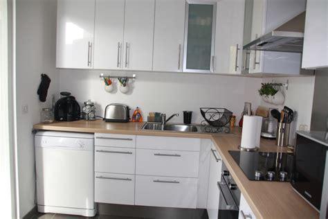 cuisine inox et bois cuisine blanche bois et inox photo 1 6 3509190