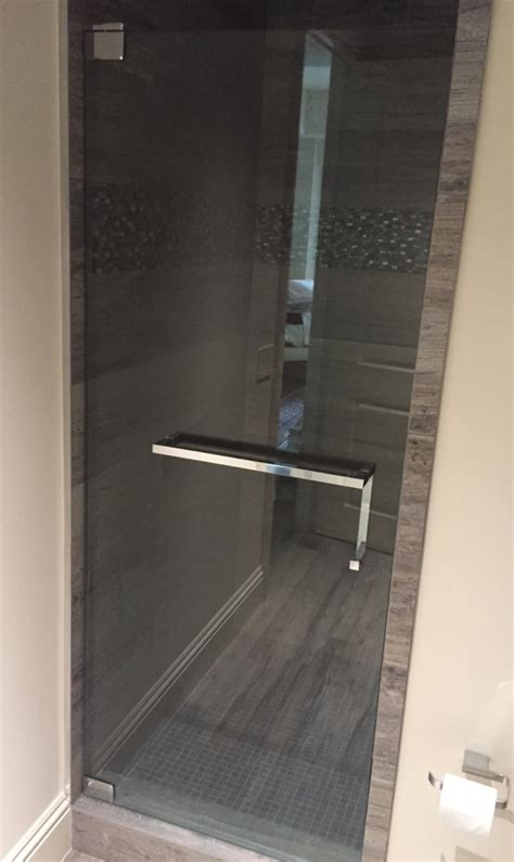 shower door towel bar brilliant  glass shoppe