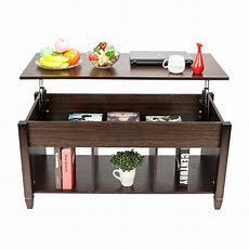 Liftup Top Coffee Table Whidden Storage Compartment