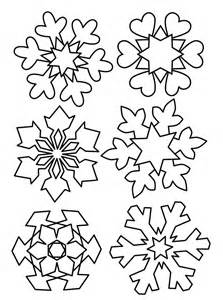 Snowflake Patterns to Trace for Cupcakes