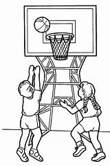 Coloring Sports Pages Printable Sport Colouring Sheet Children Basketball Sporty sketch template