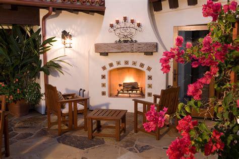 glamorous fireplace candelabrain patio mediterranean
