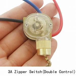Lamp zipper switch retro pull chain ceiling light wall