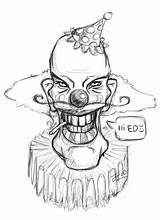 Clown Drawing Scary Killer Clowns Coloring Evil Horror Kleurplaat Drawings Creepy Easy Simple Getdrawings Pennywise Personal Bing sketch template