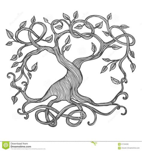 Celtic Tree of Life stock vector. Illustration of tree ...