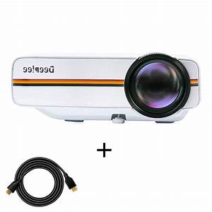 Projector  Deeplee Mini Video Projector Laptop 1500 Lumens