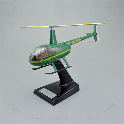 Robinson R44 Raven II Model with Detailed Interior