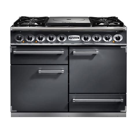 falcon range cooker falcon range cookers 1092 deluxe ct dual fuel range cooker fct1092dfsl nm slate with brushed