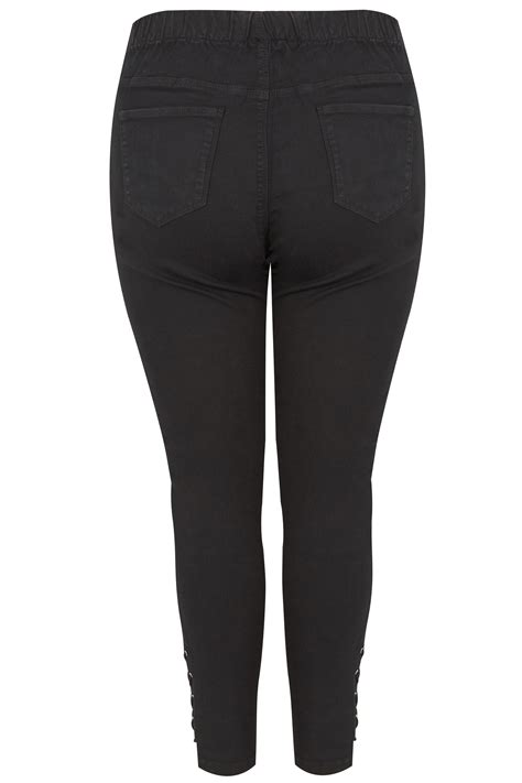 Date Post Jenny Template Responsive by Black Pull On Jenny Jeggings With Eyelet Detail Plus Size