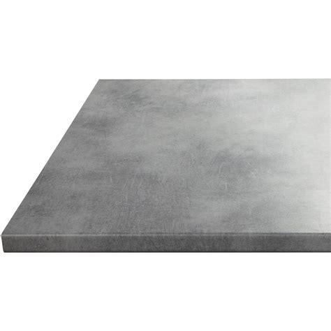 plan de travail cuisine sur mesure stratifié plan de travail stratifié effet béton mat l 180 x p 60 cm l 60 cm ep 28 mm leroy merlin