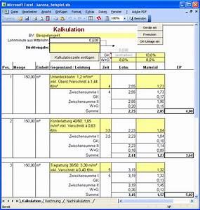 Betriebskostenabrechnung Software Kostenlos : angebotskalkulation excel b rozubeh r ~ Michelbontemps.com Haus und Dekorationen