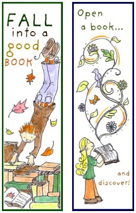 fall  reading bookmarks