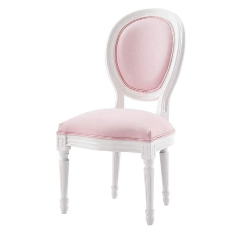 chaise m 233 daillon enfant en bois blanche et louis maisons du monde