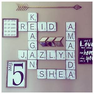 Best 25 scrabble wall art ideas on pinterest scrabble for Large scrabble letters wall decor