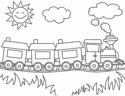 Coloring Transportation Train Printable Preschool Pages Cars