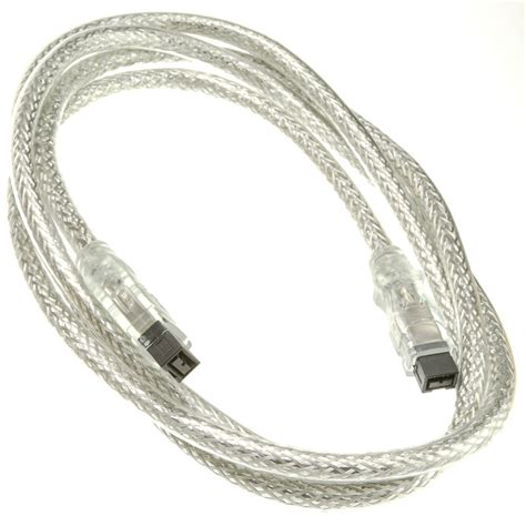 6ft clear firewire 800 9 pin 9 pin cable ieee 1394b cable