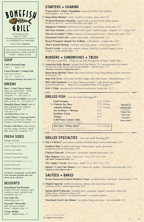 bonefish grill  wwwbonefishgrillcom restaurant