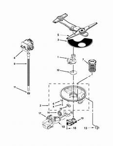 Pump  Washarm And Motor Parts Diagram  U0026 Parts List For Model 66512789k311 Kenmore