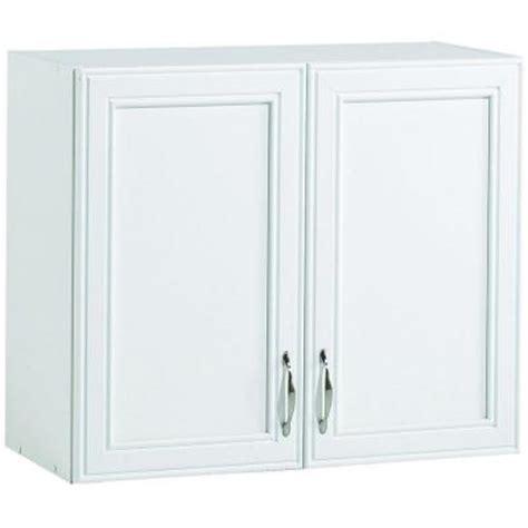 laminate cabinet doors home depot akadahome 28 in w 2 shelf laminate wall cabinet in white