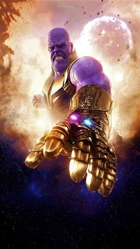 thanos   infinity gauntlet iphone wallpaper
