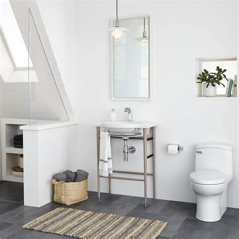 Toilets And Basins For Small Bathrooms by Lowell 26 Quot Wood Console Bathroom Sink By Dxv